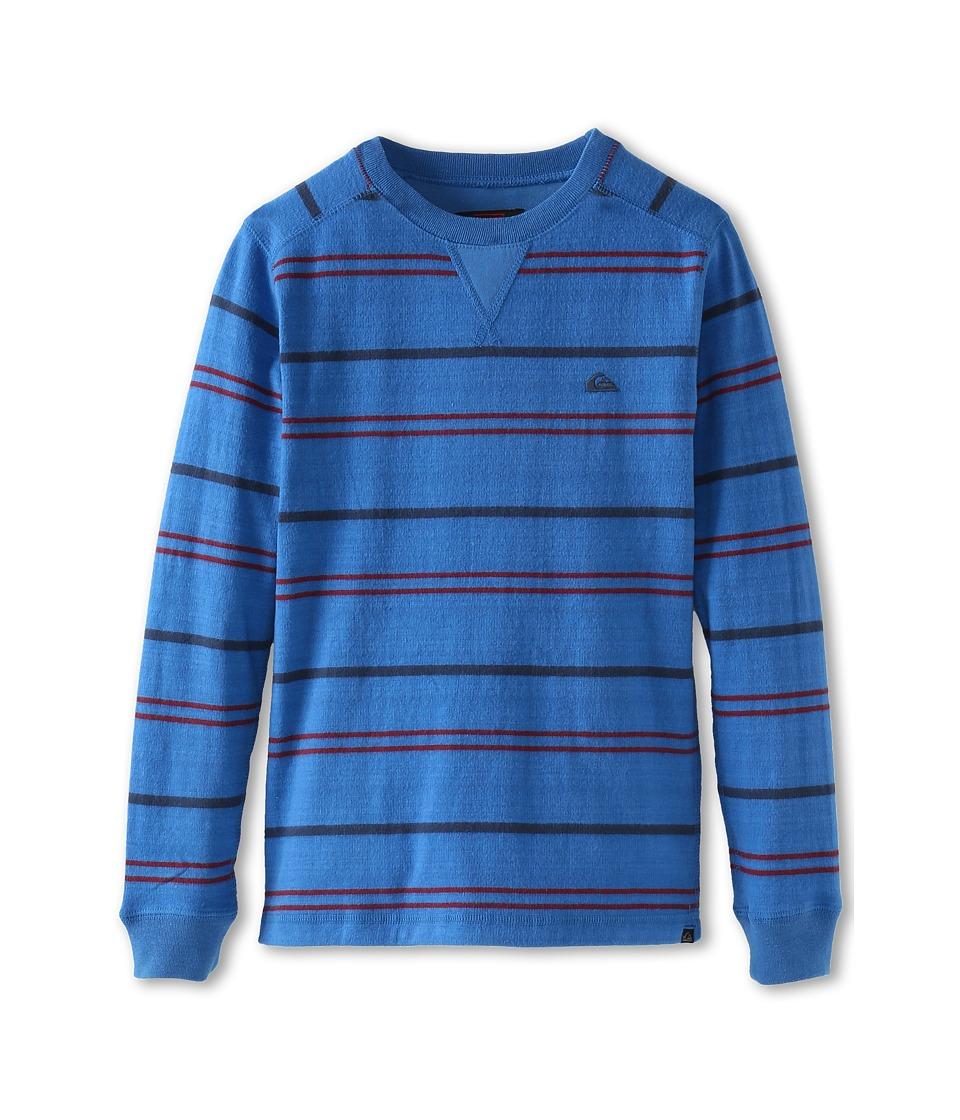 Quiksilver Kids Snit Stripe Boys Sweatshirt (Blue)