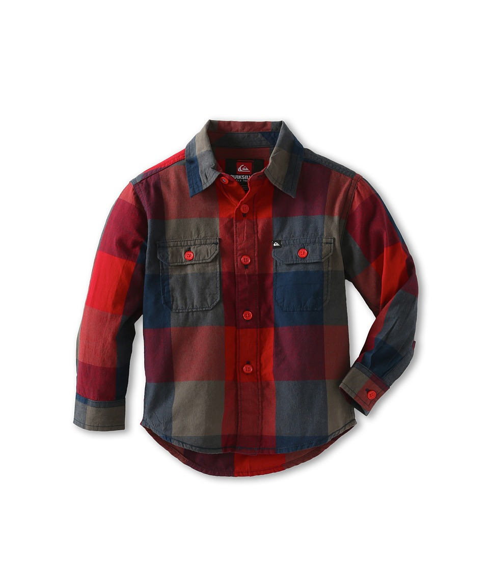Quiksilver Kids Grande Tatunka Boys Long Sleeve Button Up (Red)