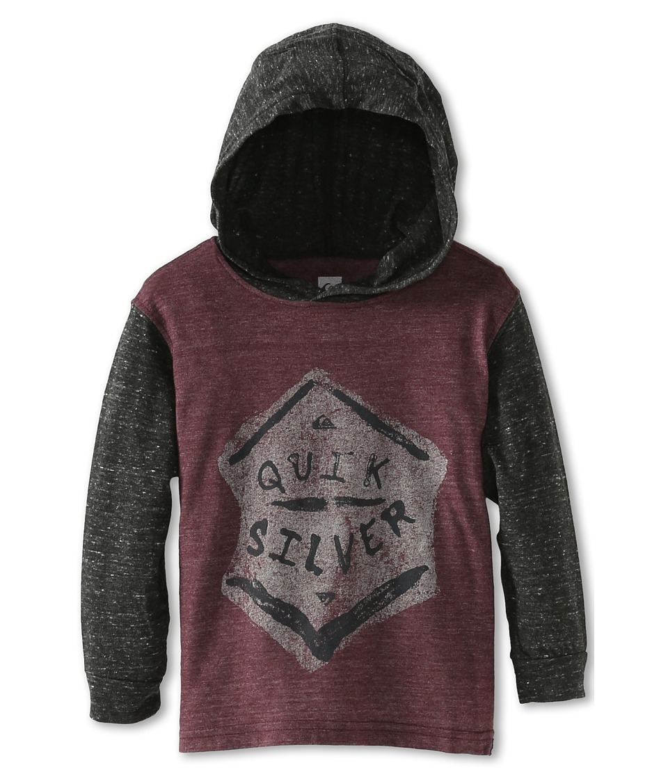 Quiksilver Kids Surf Division Boys Long Sleeve Pullover (Burgundy)