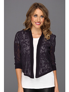 SALE! $56.99 - Save $131 on NIC ZOE Mesh Vines Cardy (Nightshade) Apparel - 69.69% OFF $188.00