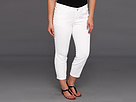 DKNY Jeans Plus Size City Skinny With Studded Tuxedo Stripe in White