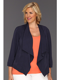 SALE! $36.99 - Save $83 on DKNY Jeans Plus Size Drape Front Jacket (Mood Indigo) Apparel - 69.05% OFF $119.50