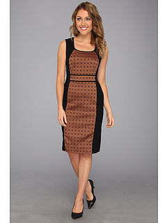 SALE! $64.99 - Save $93 on NIC ZOE Brocade Ponte Dress (Dark Topaz) Apparel - 58.87% OFF $158.00