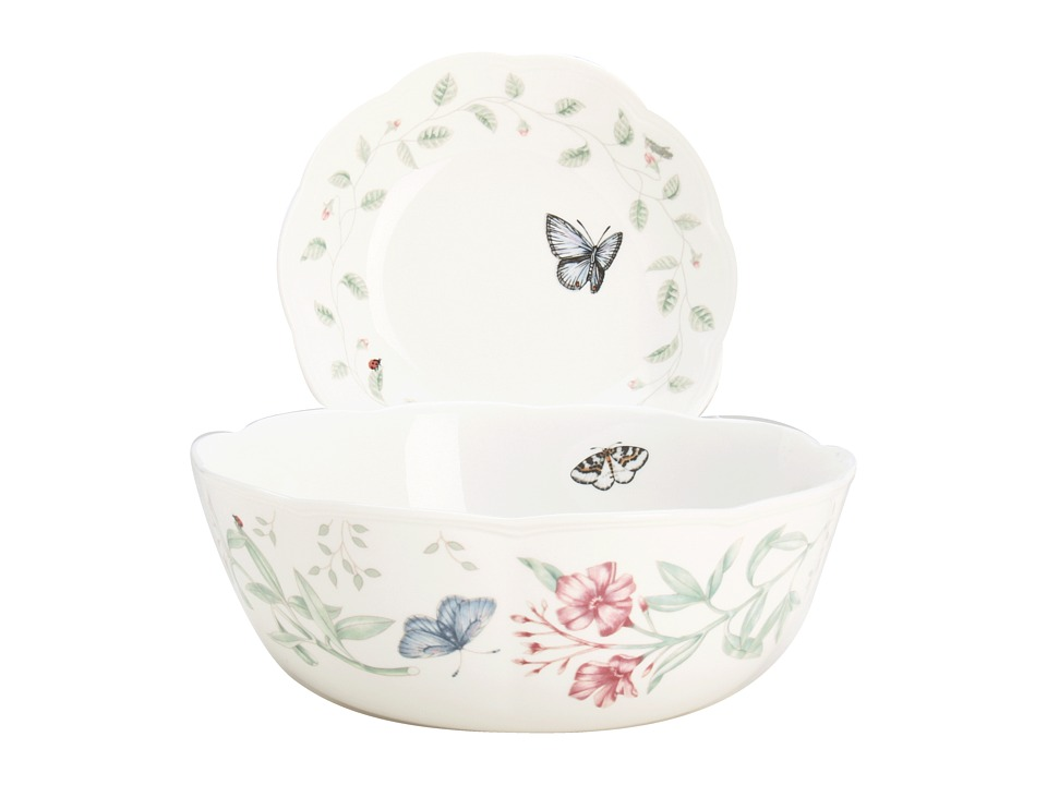 Lenox - Butterfly Meadow 7 Piece Pasta/Salad Set (White) Dinnerware Cookware