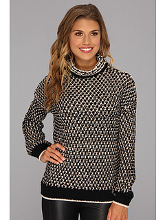 SALE! $126.99 - Save $151 on Trina Turk Dream Weaver Sweater (Black) Apparel - 54.32% OFF $278.00