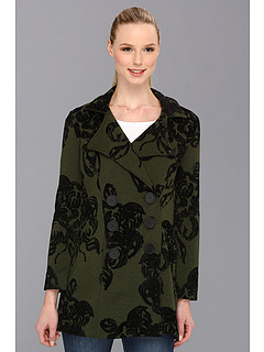 SALE! $81.99 - Save $192 on NIC ZOE Flocked Roses Peacoat (Multi) Apparel - 70.08% OFF $274.00