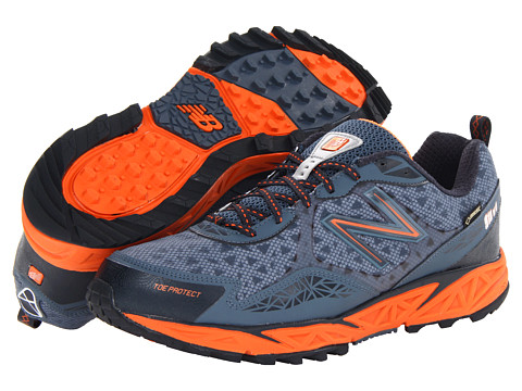New Balance - MT910 GTX (Navy/Orange) Men's Running Shoes