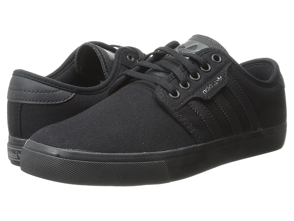 adidas Skateboarding - Seeley (Black/Black/Mid Cinder) Men's Skate Shoes