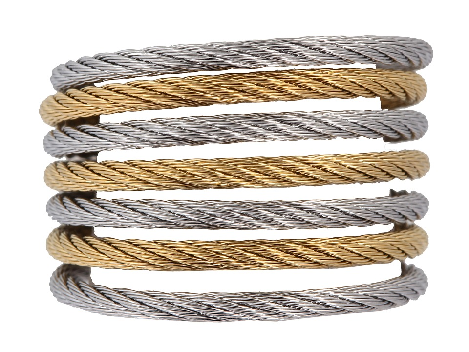 ALOR - Ring - Modern Cable Mix 02-34-S760-00 (Stainless Steel/Gold) Ring