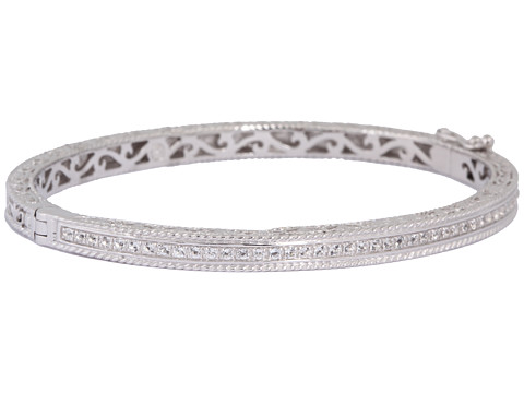 DeLatori - White Topaz and Sterling Silver Bangle - 40-02-P901-11 (White Topaz/Sterling Silver) Bracelet