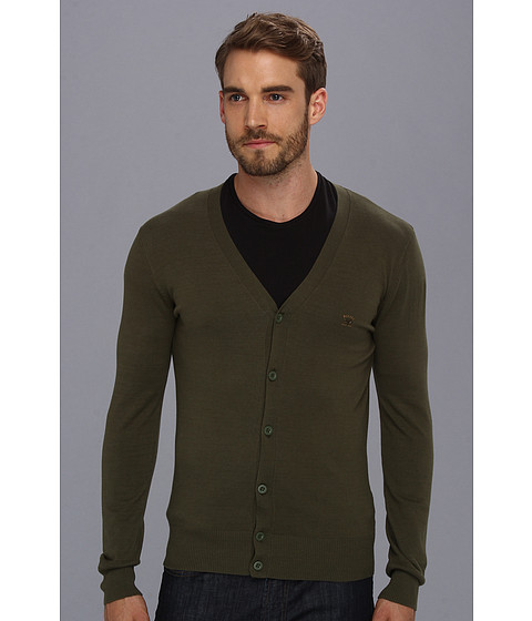 Diesel - Edipo Cardigan (Gingham Green) Men's Sweater