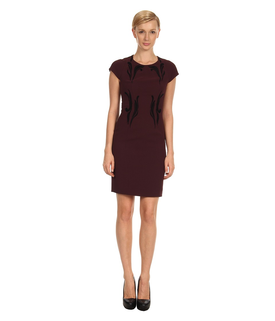Rachel Roy - Flocked Dress 10426659 (Chambord) Women's Dress