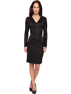 SALE! $196.99 - Save $131 on Rachel Roy Lace Yoke Dress (Black Black) Apparel - 39.94% OFF $328.00