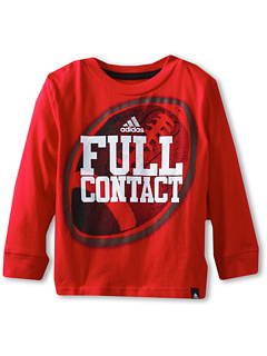 SALE! $9.99 - Save $10 on adidas Kids Full Contact Long Sleeve Tee (Toddler Little Kids) (Light Scarlet) Apparel - 50.05% OFF $20.00