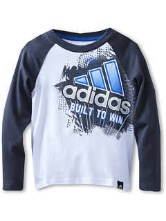 SALE! $9.99 - Save $10 on adidas Kids Built To Win L S Tee (Toddler Little Kids) (White) Apparel - 50.05% OFF $20.00