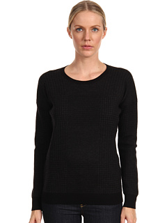 SALE! $86.99 - Save $198 on Theory Tollie P Top (Black Charcoal) Apparel - 69.48% OFF $285.00