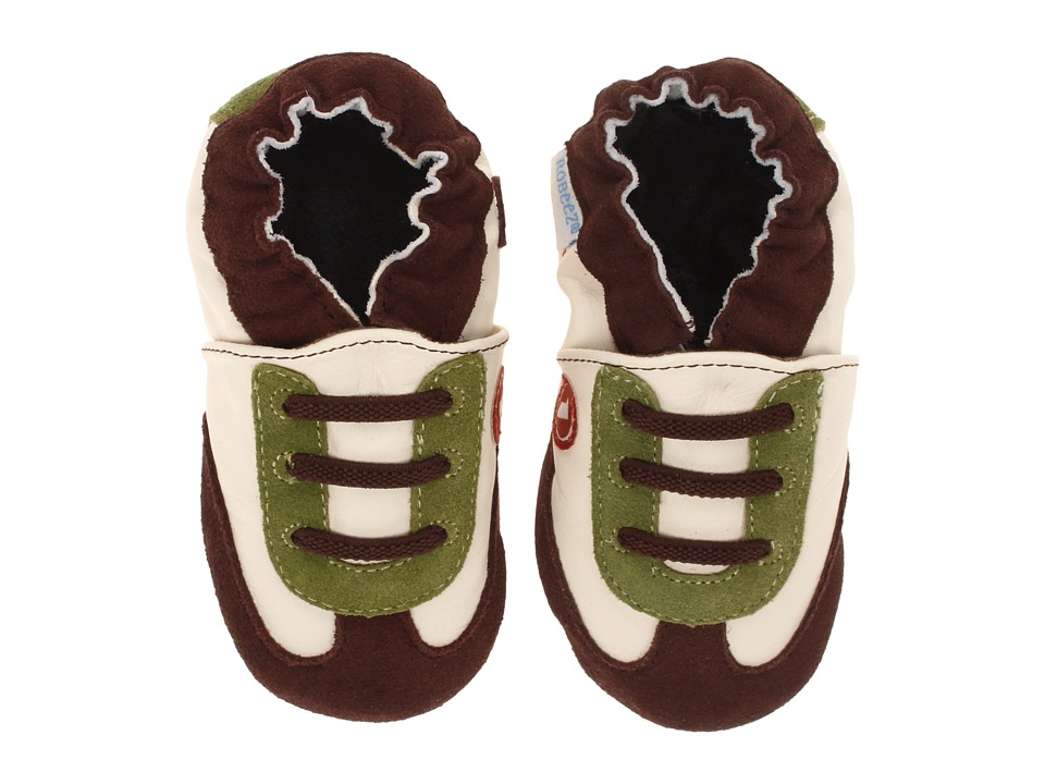 Robeez - All Star Rodney Soft Sole (Infant/Todder) (Brown) Boys Shoes
