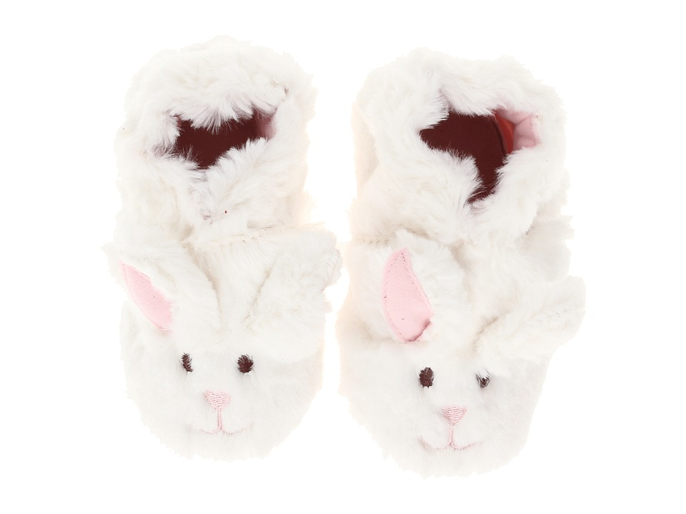 Robeez - Fuzzy Bunny Soft Sole (Infant/Todder) (White) Girls Shoes