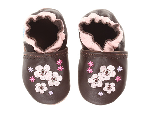 Robeez - Sweet Girl Soft Sole (Infant/Todder) (Brown) Girls Shoes