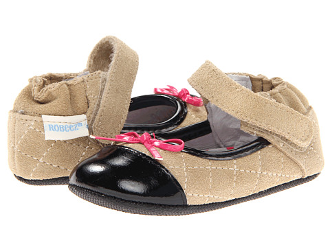 Robeez - Harper Mini Shoe (Infant/Todder) (Taupe) Girls Shoes