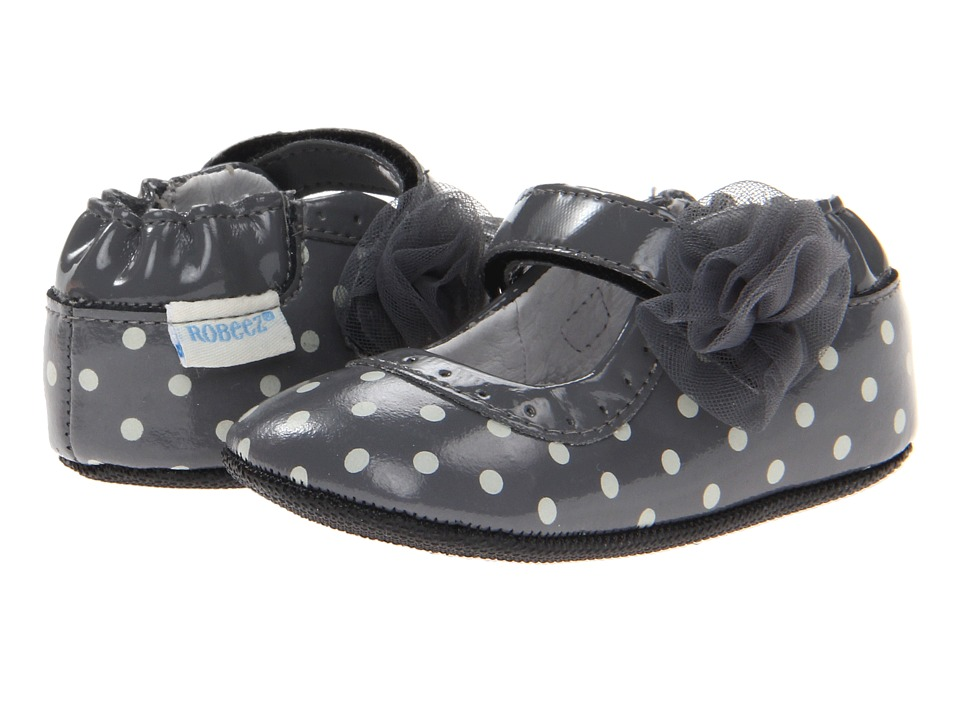 Robeez - Gracie Girls Mini Shoe (Infant/Todder) (Grey) Girls Shoes