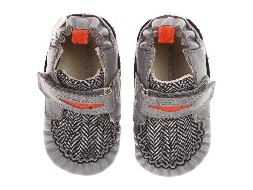 Robeez - Luke Mini Shoe (Infant/Todder) (Grey) Girls Shoes