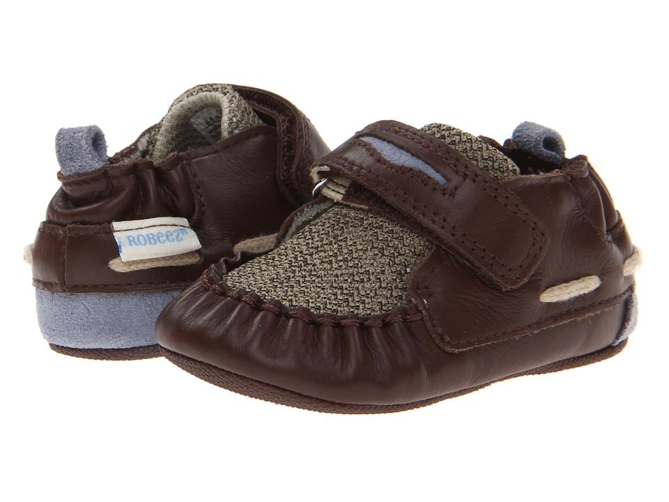 Robeez - Luke Mini Shoe (Infant/Todder) (Taupe) Girls Shoes