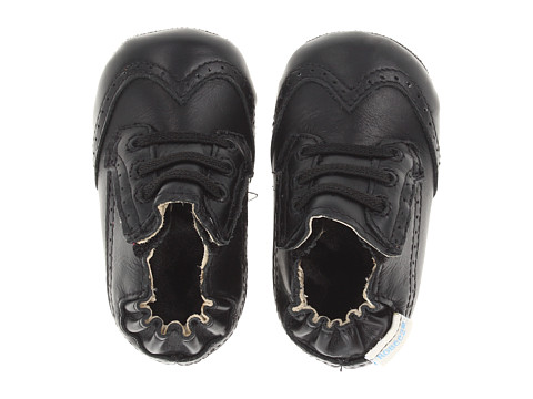 Robeez - Dress Man Mini Shoe (Infant/Todder) (Black) Girls Shoes
