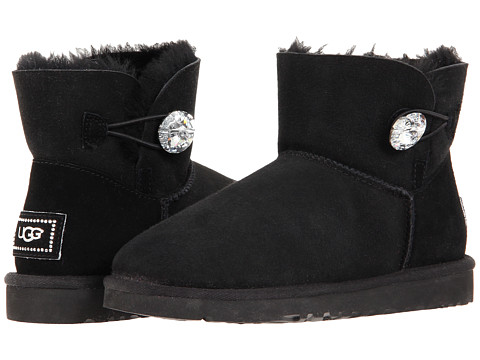 UGG - Mini Bailey Button Bling (Black) Women's Boots
