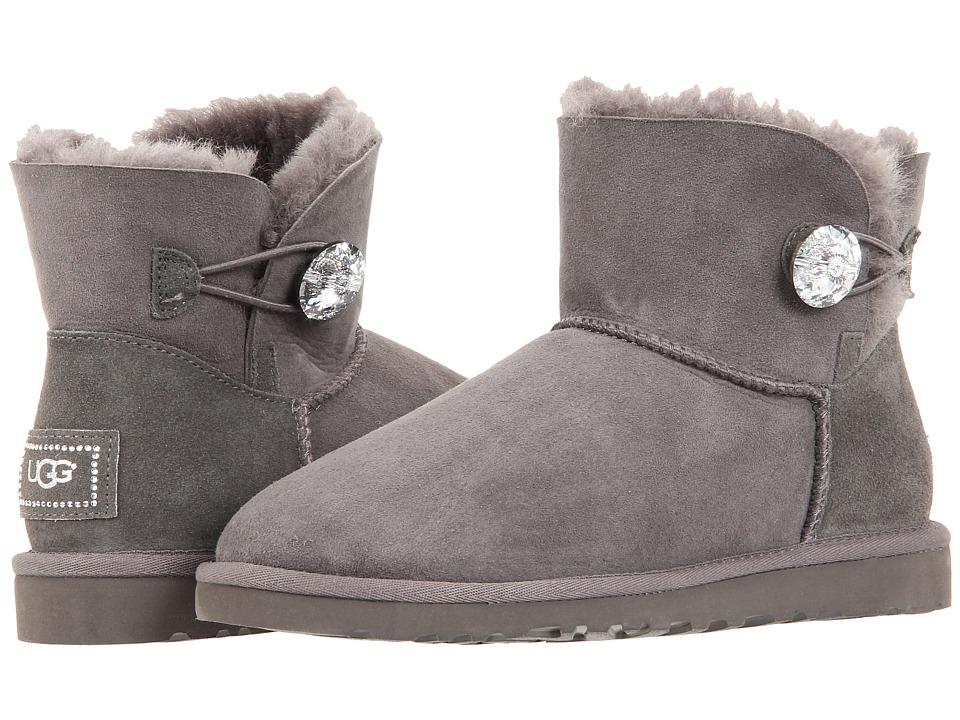06a9d11f1a3 UPC 887278472841 - UGG Mini Bailey Button Bling (Grey) Women's Boots ...