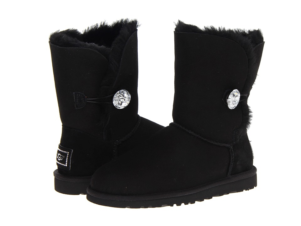 UGG Bailey Button Bling (Black) Women