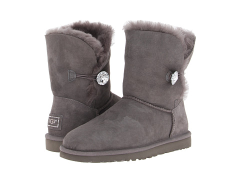 UGG - Bailey Button Bling (Grey) Women's Boots