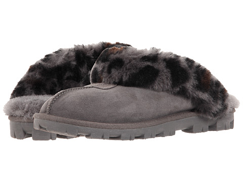 UGG - Coquette Leopard (Charcoal) Women's Slippers