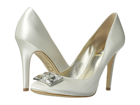 Joan & David - Franceen (White Satin) High Heels