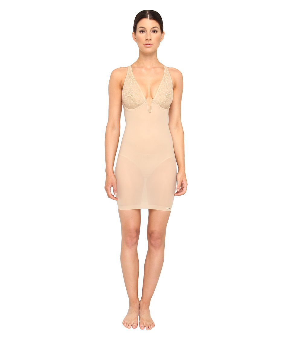 Donna Karan - Sculpting Solutions Lace Smoothing Slip (Nomad/Froth) Women's Lingerie