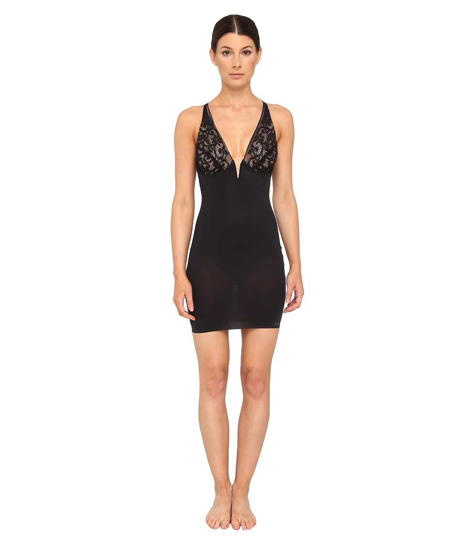 Donna Karan - Sculpting Solutions Lace Smoothing Slip (Black/Nomad) Women's Lingerie