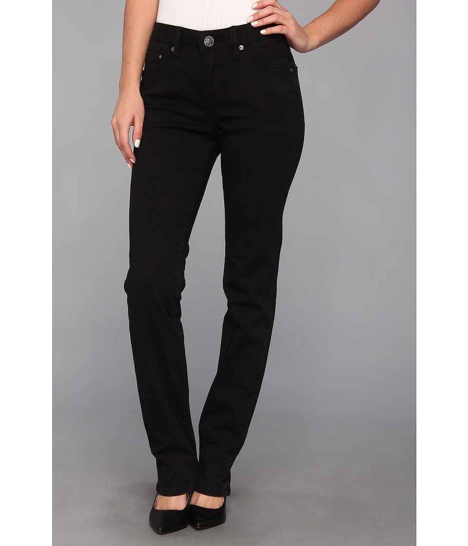 Jag Jeans - Jackson Mid Straight Heritage Twill (Black) Women's Casual Pants