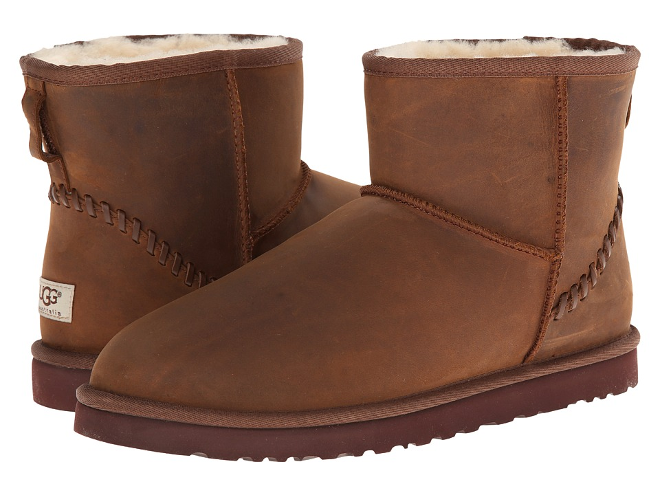 UGG - Classic Mini Deco (Chestnut Leather) Men's Boots