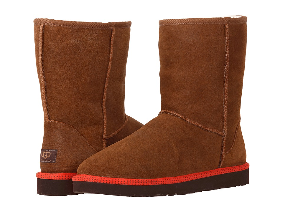 UGG - Classic Short Leather (Chestnut Leather/Sheepskin) Men's Boots