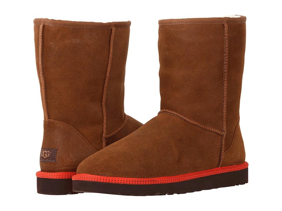 UGG - Classic Short Leather (Chestnut Leather/Sheepskin) Men's Boots