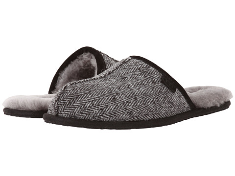 UGG - Scuff Herringbone (Black Wool) Men's Slippers