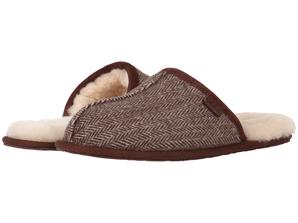 UGG - Scuff Herringbone (Grizzly Wool) Men's Slippers