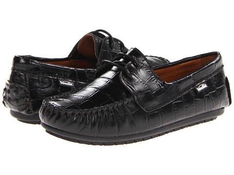 Venettini Kids - 55-Mason (Little Kid/Big Kid) (Black Croc) Boys Shoes