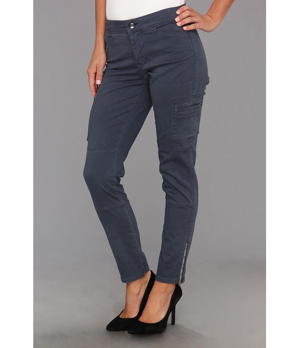 NYDJ - Darleen Cargo Legging Fine Line Twill (Steel Blue) Women's Casual Pants