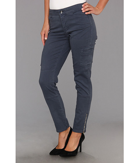 NYDJ - Darleen Cargo Legging Fine Line Twill (Steel Blue) Women's Casual Pants