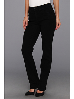 SALE! $61.99 - Save $48 on NYDJ Marilyn Straight Leg Soft Brushed Denim (Black) Apparel - 43.65% OFF $110.00