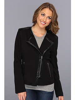 SALE! $71.99 - Save $108 on NYDJ Moto Jacket w Faux Leather (Black) Apparel - 60.01% OFF $180.00