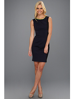 SALE! $146.99 - Save $121 on Elie Tahari Margot Dress (Navy Yard Black) Apparel - 45.15% OFF $268.00