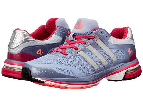 adidas Running supernova Glide 5 W (Prism Blue/Metallic Silver/Blast Pink) Women's Running Shoes