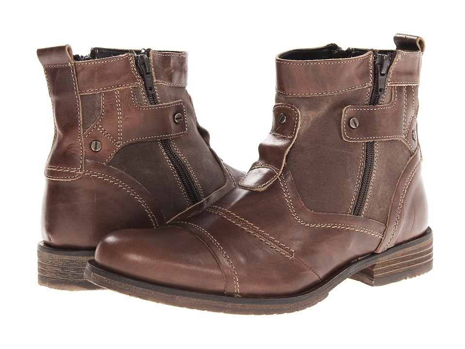 Type Z - Roy (Brown Leather) Men's Zip Boots
